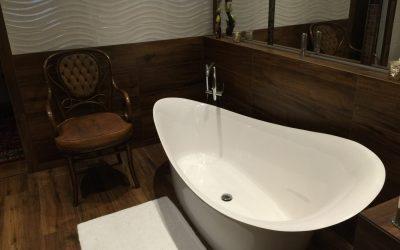 Der Spiegel im Bad ist nützlich und auch gleichzeitig ein Designelement.